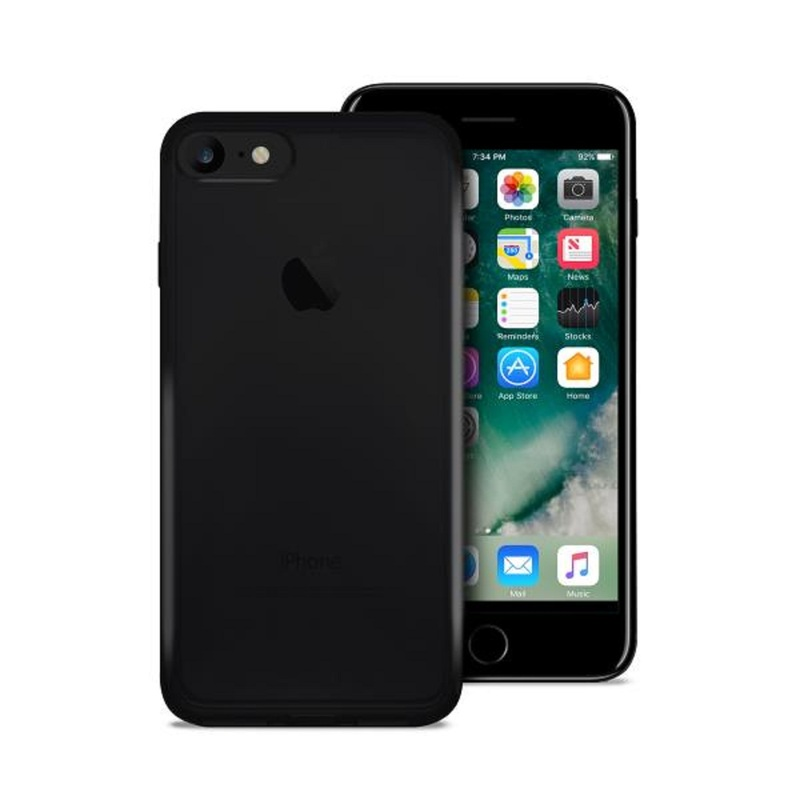 new concept e6489 d02ae Puro Ultra-Slim 0.3 Nude Cover Black iPhone 8/7
