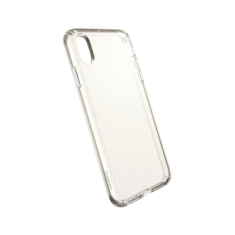 check out 33fd9 72053 Speck Presidio Clear + Glitter Case Clear with Gold Glitter/Clear for  iPhone XS Max