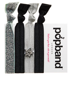 Popband London Superstar Black/Silver/Jewel Headband