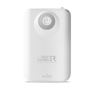 Puro Universal 7800Mah White Power Bank With Torch