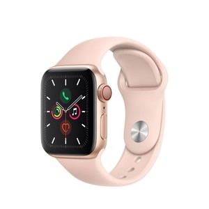 Apple Watch Series 5 GPS + Cellular 40mm Gold Aluminium Case with Pink Sand Sport Band S/M & M/L