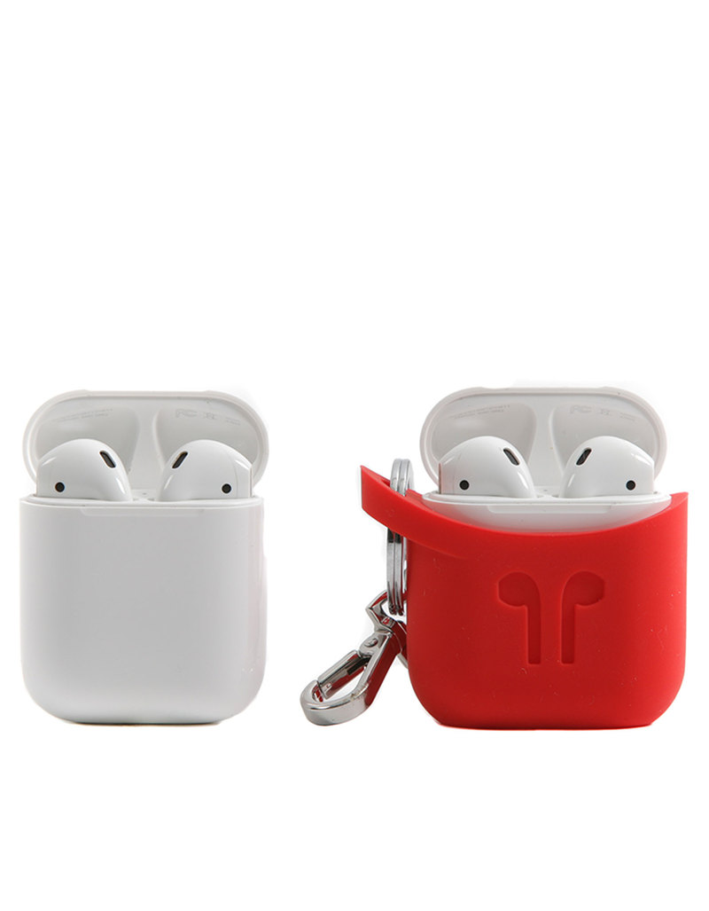promo code 9f5fb c5d2c PodPocket Silicone Case Blazing Red For Apple AirPods