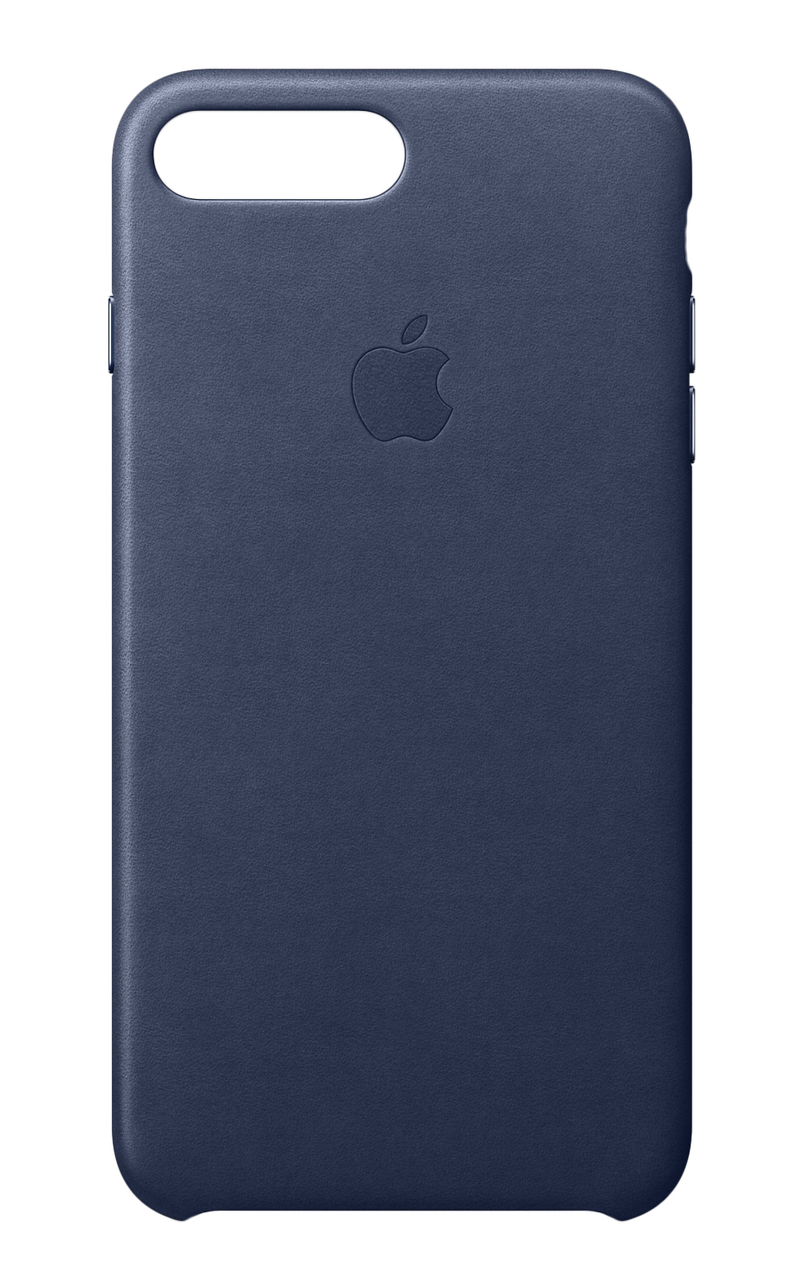 check out 3ac84 c0d5d Apple Leather Case Midnight Blue for iPhone 8 Plus/7 Plus