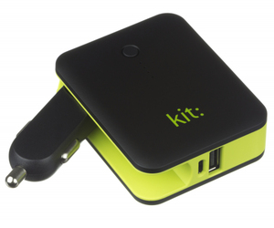 Kit 2-in-1 In-Car Charger & 3000mAh Black Power Bank
