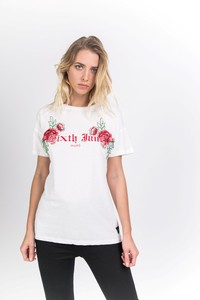 Sixth June 6J Roses T-Shirt White