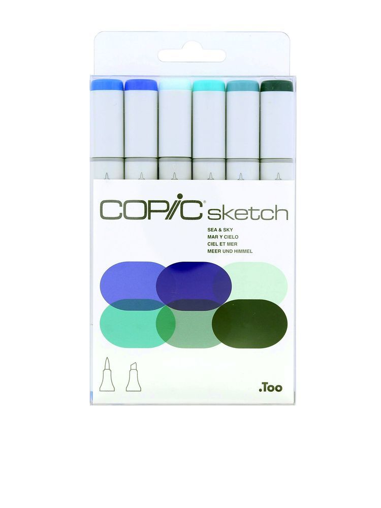 Copic Sketch Set Sea & Sky [Set of 6]