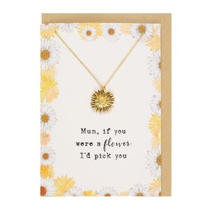 Something Different Mum If You Were a Flower Necklace and Card Set
