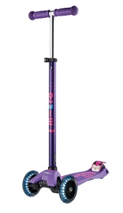 Maxi Micro Deluxe LED T-Bar Scooter Purple
