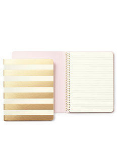 Kate Spade Spiral Gold Stripe Notebook