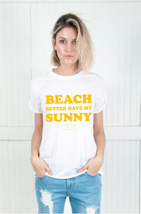 My Sunny White Womens Rolling Tee