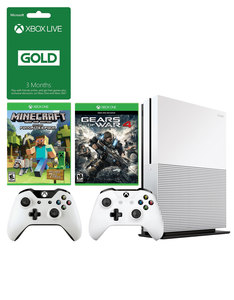 Xbox One S 500GB + Minecraft +Gears Of War 4 +3 Months Live +Wireless Controller