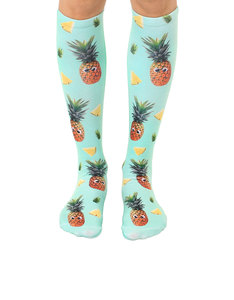 Living Royal Googly Pineapples Knee High Socks