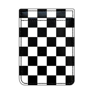 iDecoz Checkered Leather Phone Pocket