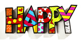 Romero Britto Happy Word Decor Figurine