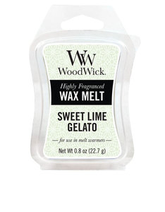 Woodwick Mini Wax Melt Sweet Lime Gelato White Small Candle