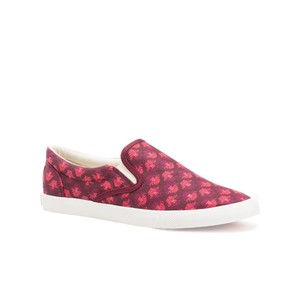 Bucketfeet Aztec Burgundy Low Top Canvas Slip On Women's Shoes