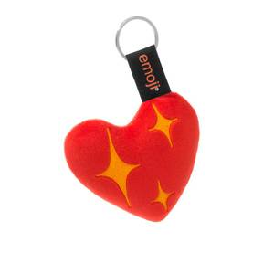 Emoji Bright Hearts Official Red Keychain