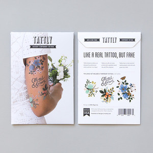 Tattly Lovely Temporary Tattoo Set