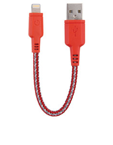 Energea NyloTough Rapid Charge & Sync Red Lightning Cable 16cm