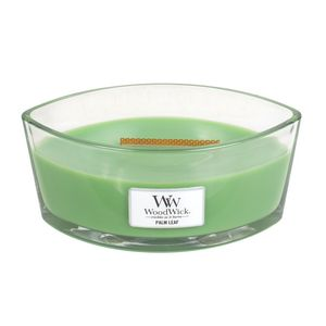 Woodwick Ellipse Jar Palm Leaf Green Candle L