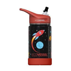 EcoVessel Frost Triple Insulated Kids Water Bottle Rocket 350 ml