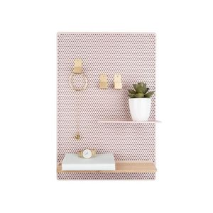 Present Time Memo Board Perky Mesh Iron Light Pink