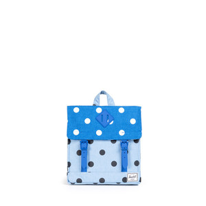Herschel Survey Kids Chambray Crosshatch/Black Polka/Cobalt Crosshatch/White Polka/Cobalt Rubber