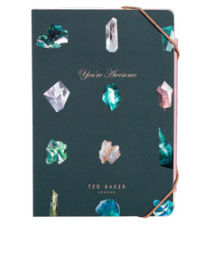 Ted Baker A5 Notebook/Sticky Notes Linear Gem