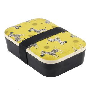 Something Different Ziggy Zebra Bamboo Lunch Box