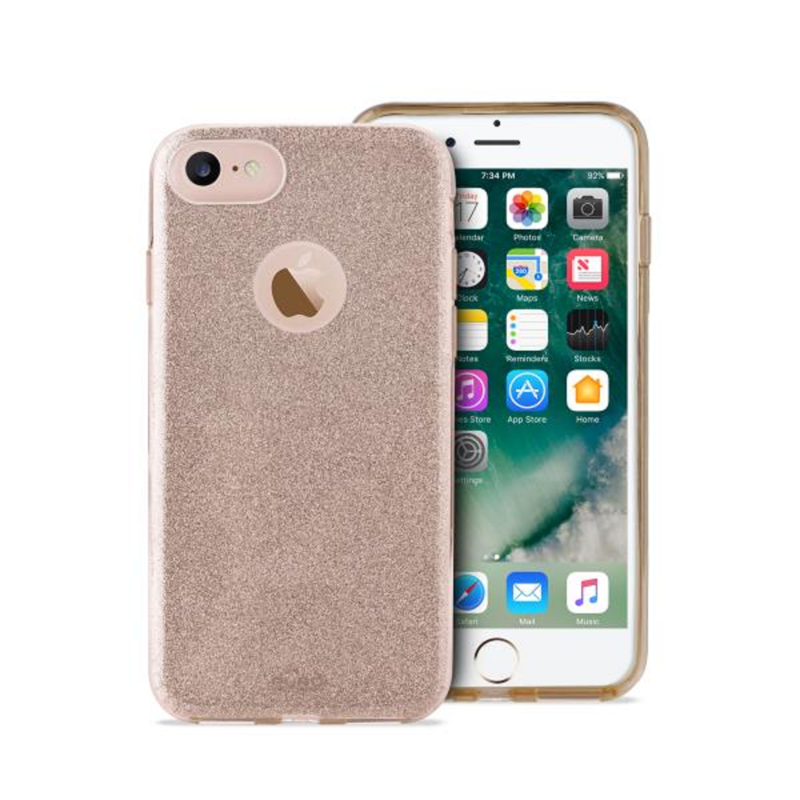 Puro Pc +Tpu Shine Cover Gold iPhone 8 7