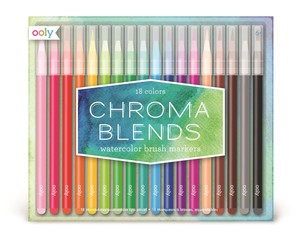 Ooly Chroma Blends Watercolor Brush Markers [Set of 18]