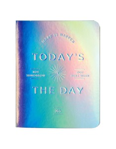 Galison Today's The Day Holographic Luxe Pocket Planner