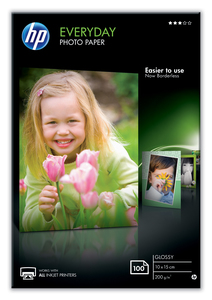 HP Everyday Glossy Photo Paper [100 Sheet] [10x15 cm]