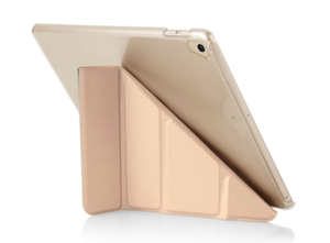 Pipetto Origami Case Champagne Gold & Clear for iPad 9.7 Inch
