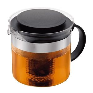 Bodum Bistro Nouveau Tea Pot With Black Lid 1.0L