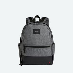 State Bags Bedford Gray/Black Polyester Canvas Backpack
