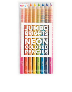 OOLY Jumbo Brights Neon Colored Pencils [Set of 8]