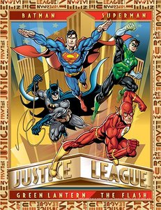 3D Art Justice League Poster Art