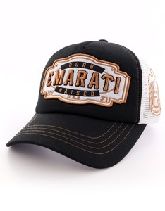 B180 Born and Raised Emarati Black/White Unisex Cap