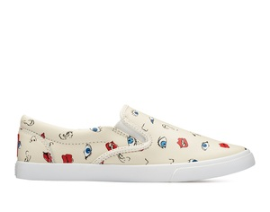 Bucketfeet Senses White Low Top Women's Canvas Slip-Ons