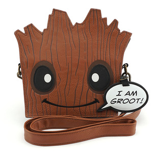 Loungefly Marvel Guardians of the Galaxy Groot Face X-Body Bag
