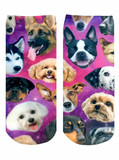 Galaxy Puppy Ankle Socks