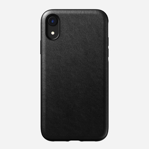 Nomad Rugged Leather Case Black for iPhone XR