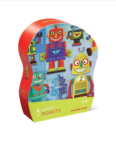 Crocodile Creek Learn N Play Puzzle Robots 72Pc