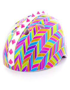Cpremel Chevron Run Youth Pink Kids Helmet