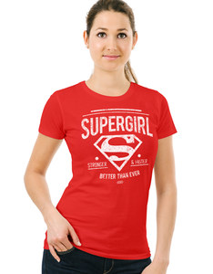 CID Supergirl Better Than Ever Fitted Red T-Shirt