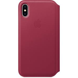 Apple Leather Folio Case Berry for iPhone X