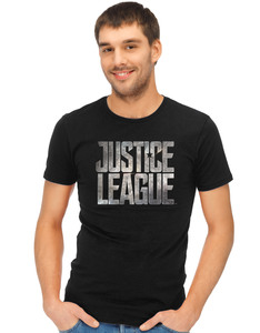 CID Justice League Movie Logo Black Unisex T-Shirt