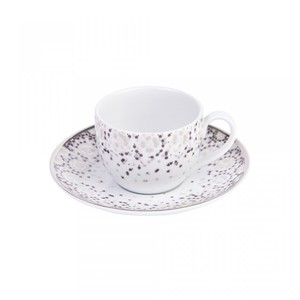Silsal Mirrors Espresso Cup And Saucer Silver