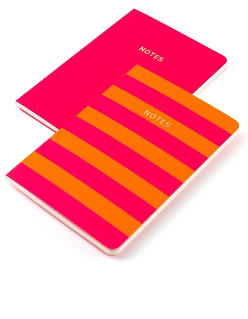 Go Stationery Colourblock Pink Orange Stripe A6 Set Of 2 Books ... 3d89689a1769